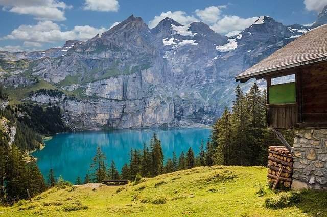 Schweiz Bergpanorama