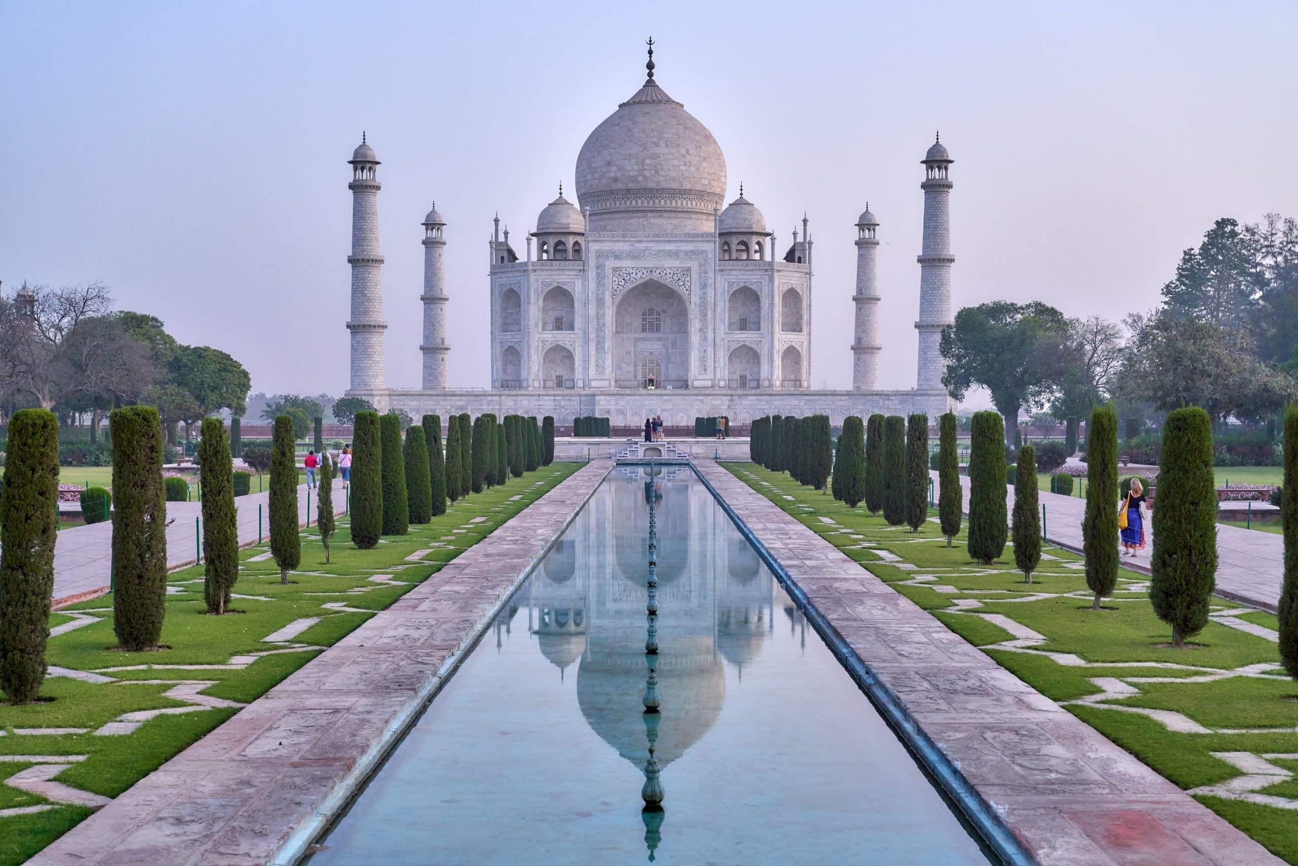 Das Taj Mahal ist eines der Symbole für Indien