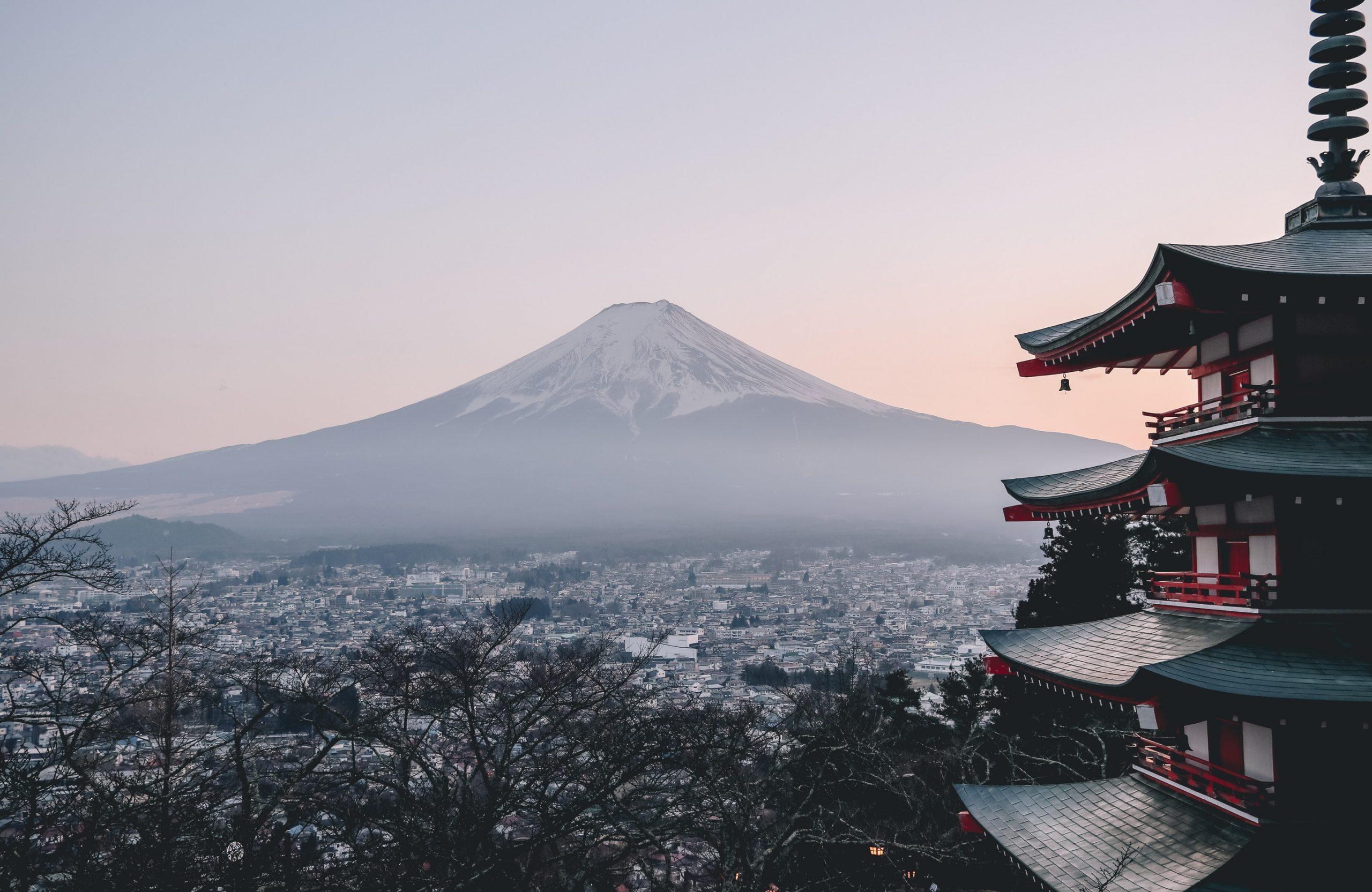 Der Berg Fuji als das Symbol für Japan