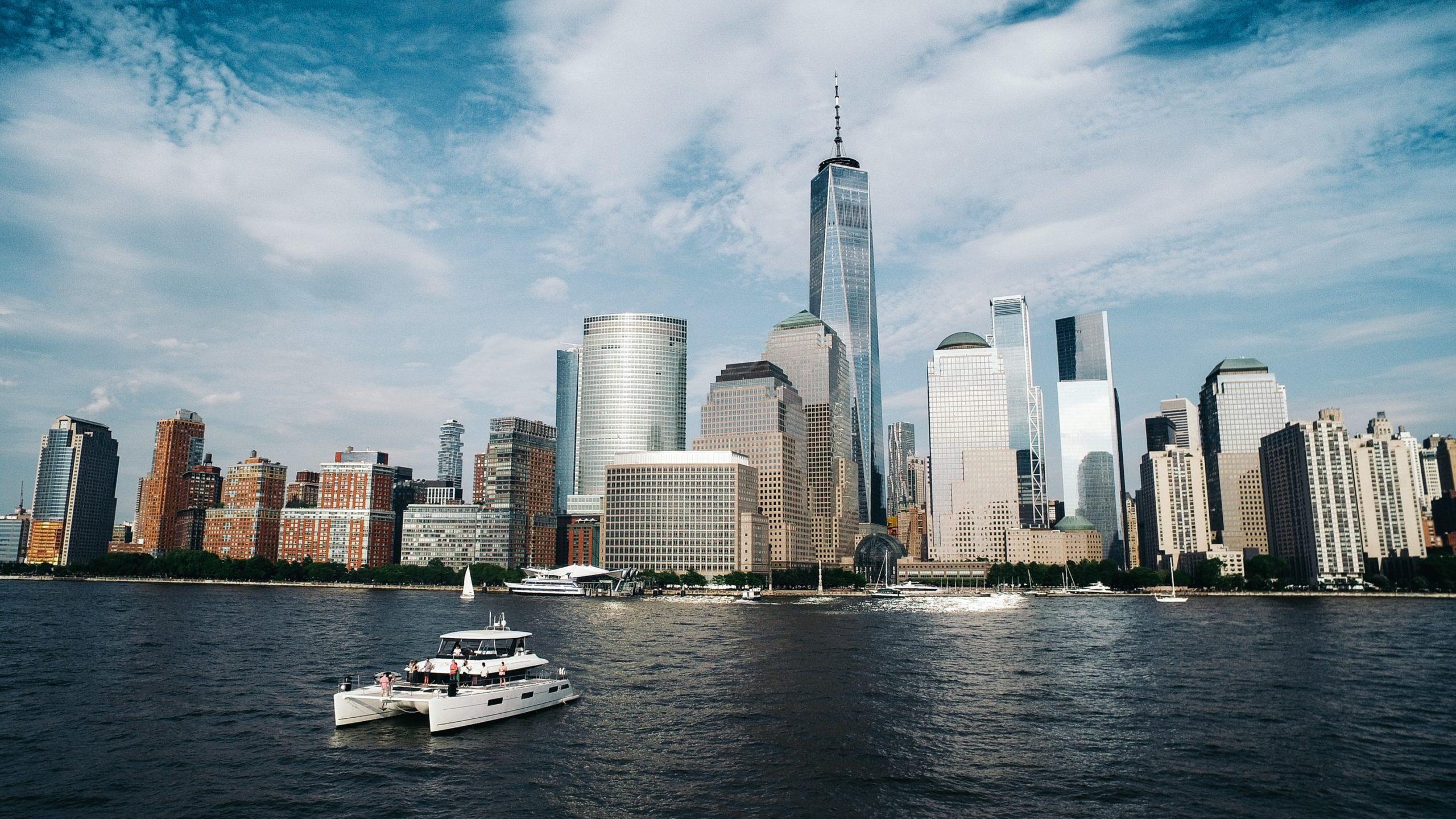 Lower Manhattan als Zentrum der US-Finanzindustrie - Aktienmärkte steigen
