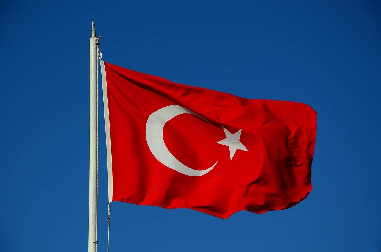 Türkei Flagge Beispielbild