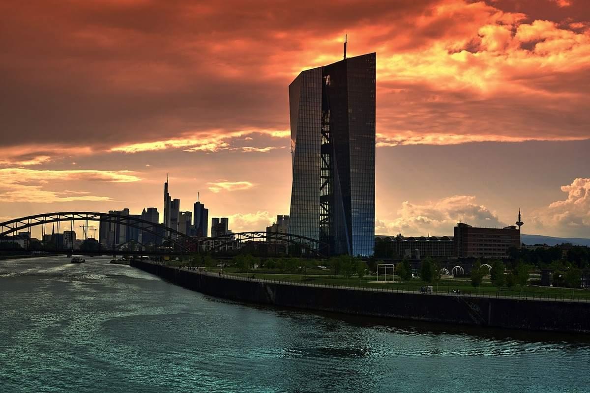 Der EZB Tower in Frankfurt