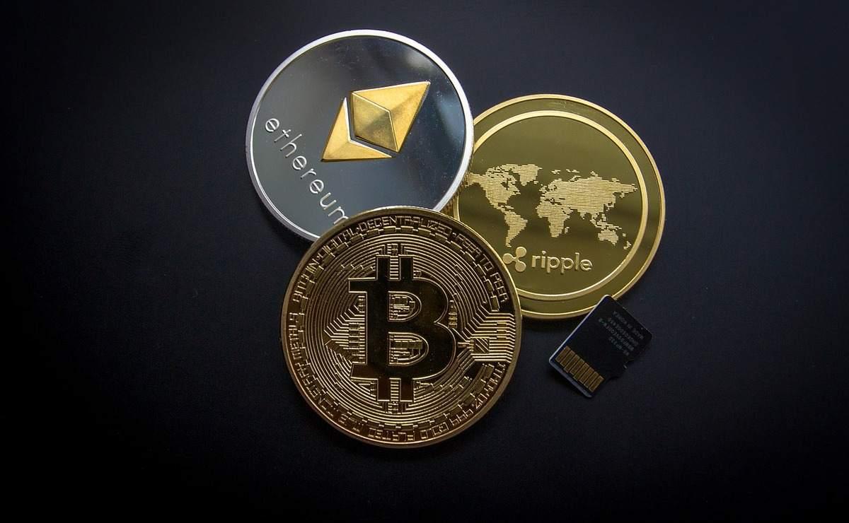Beispielfoto für die drei wichtigsten Kryptowährungen