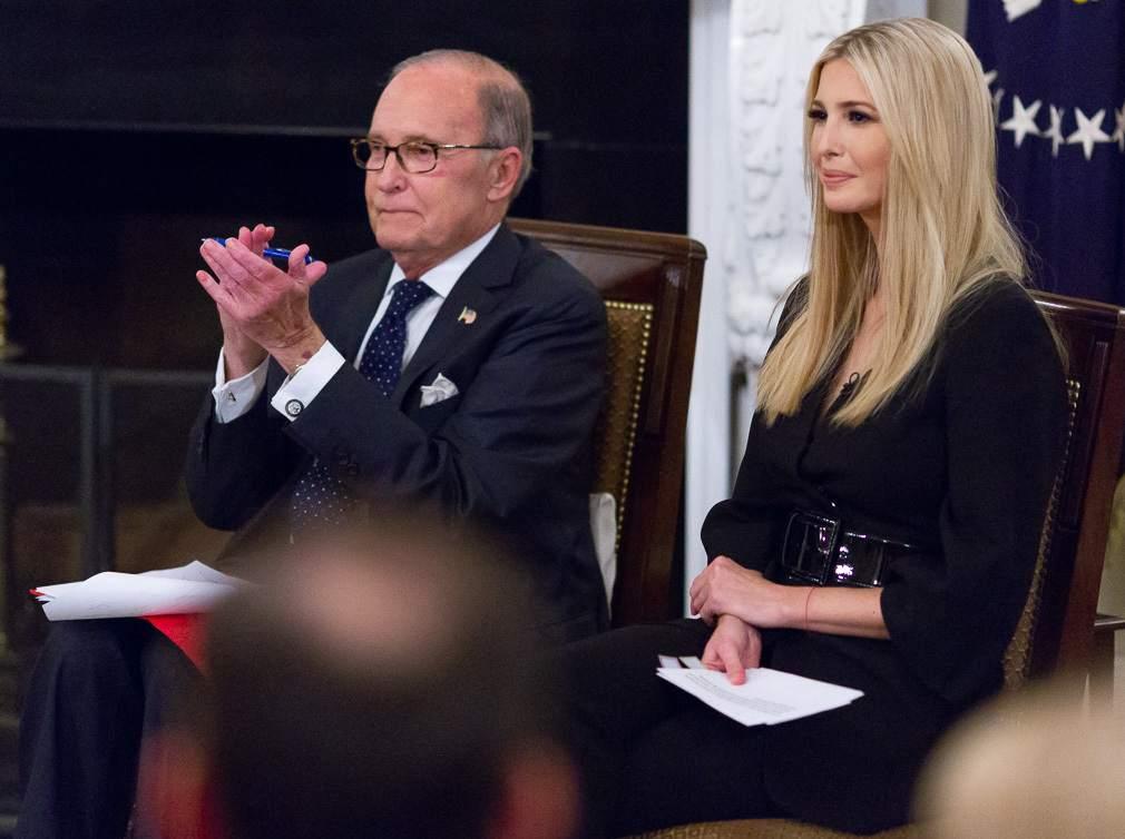 Trump-Liebling Larry Kudlow und Ivanka Trump 2018