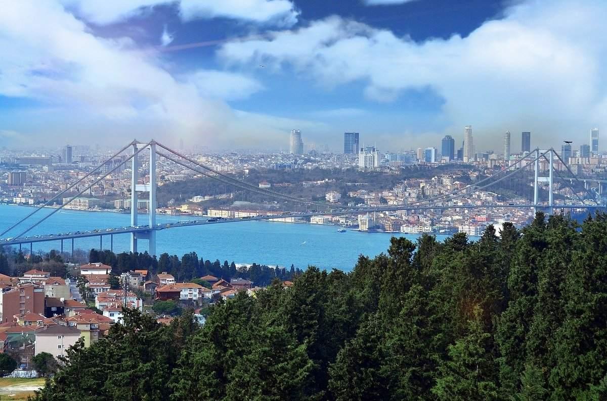 Türkei Istanbul Skyline