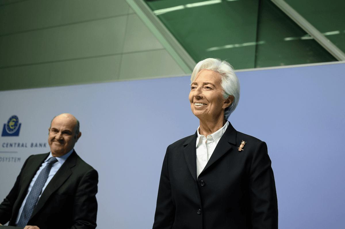 Christine Lagarde letzte Woche in Frankfurt - Zinsen bleiben im Keller