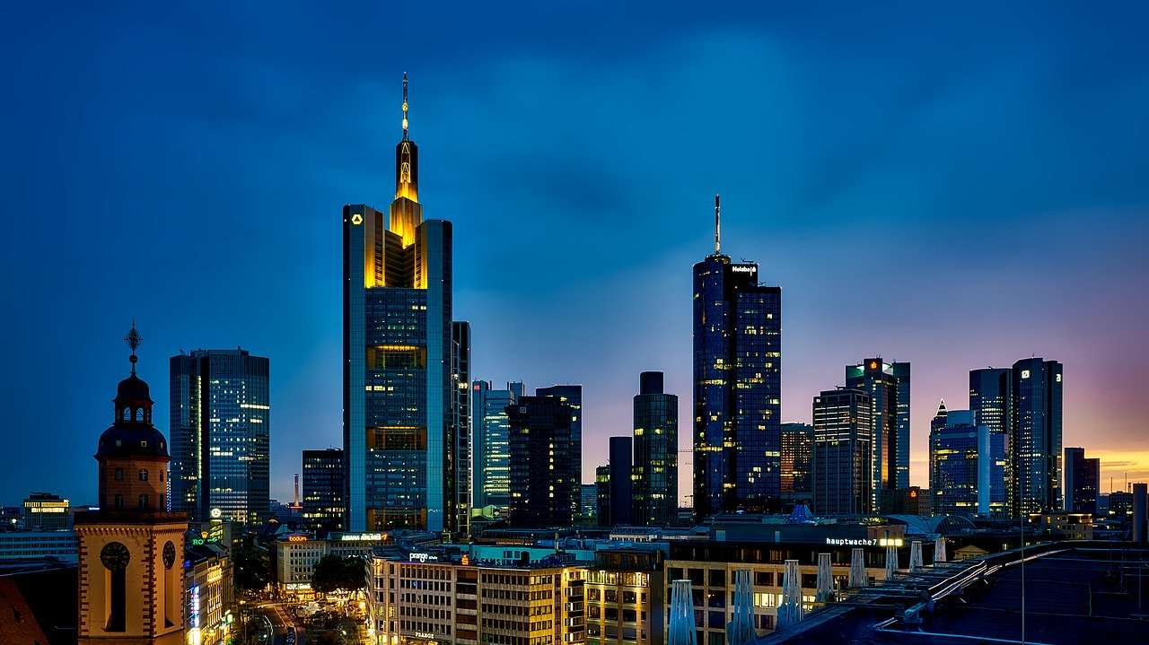 Banktürme in Frankfurt - auch Sitz der EZB