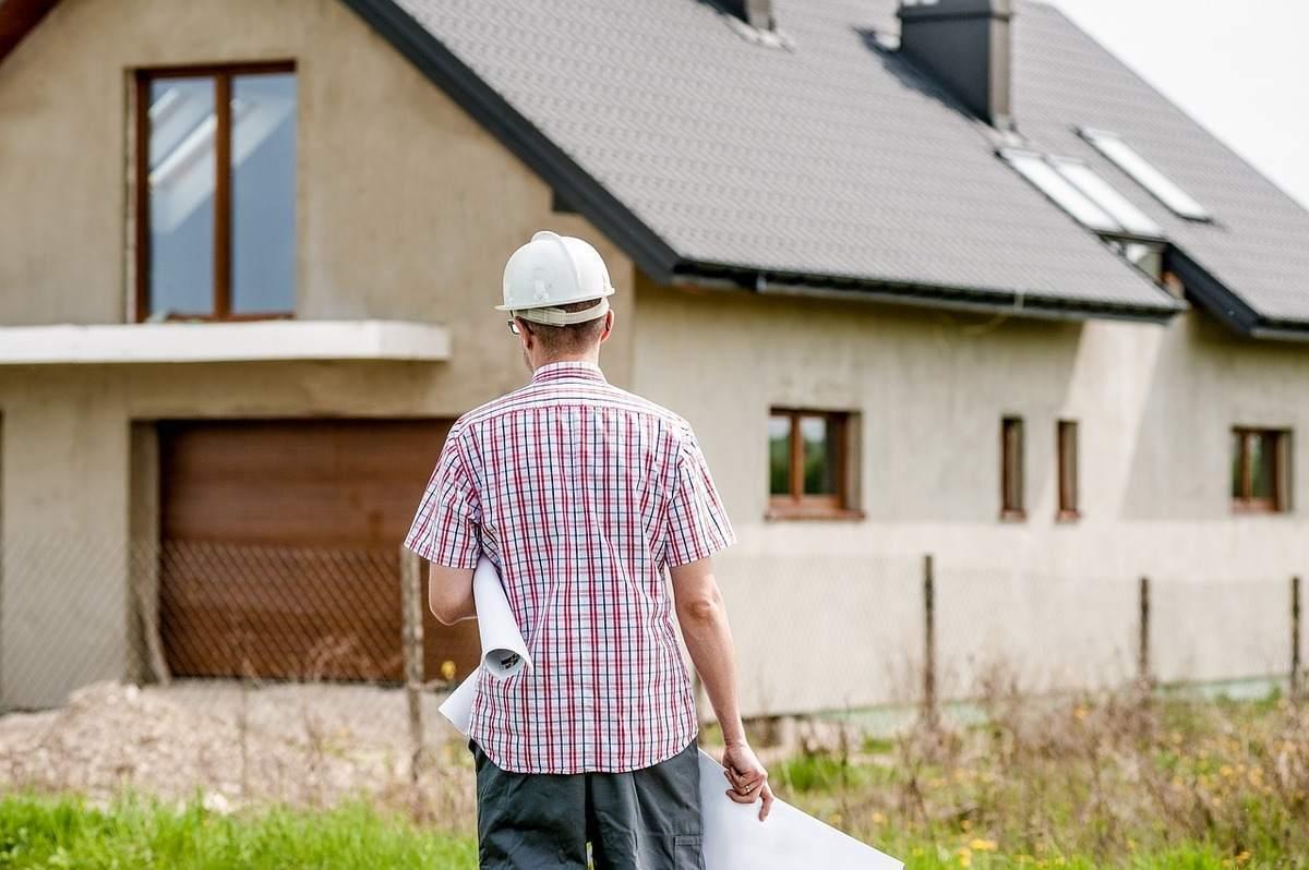 Baugewerbe Beispielfoto vom Hausbau
