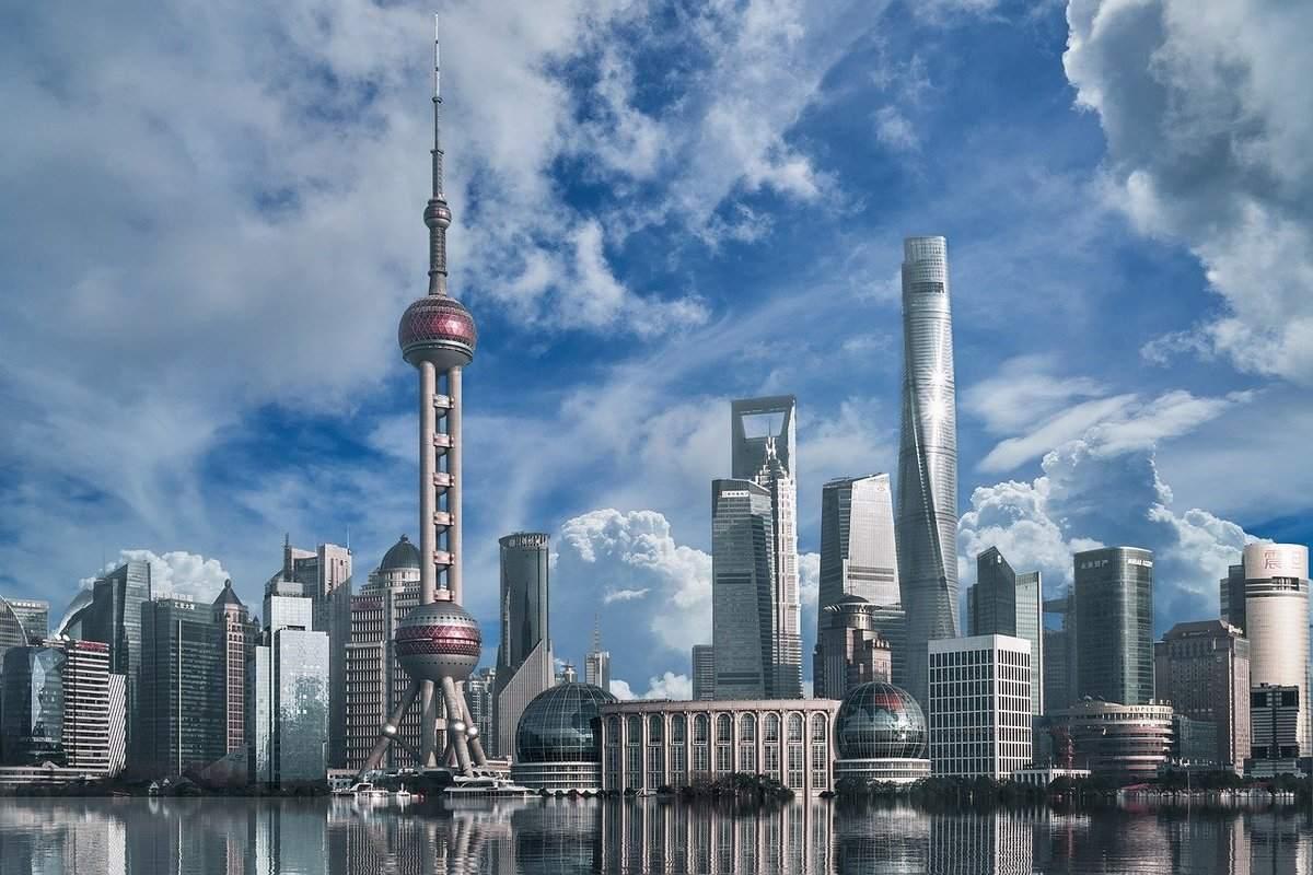 Shanghai als wirtschaftliches Zentrum in China