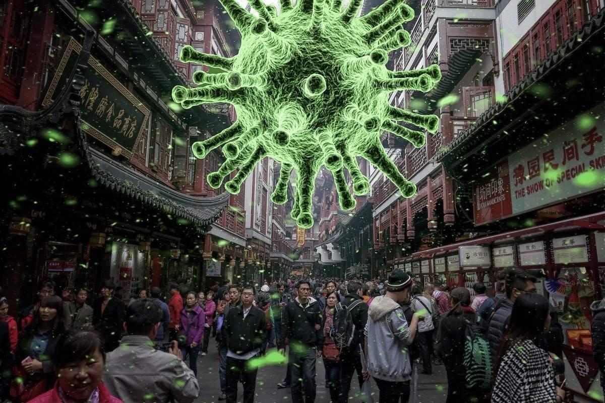 Illustration - Angst vor Coronavirus lähmt die Wirtschaft