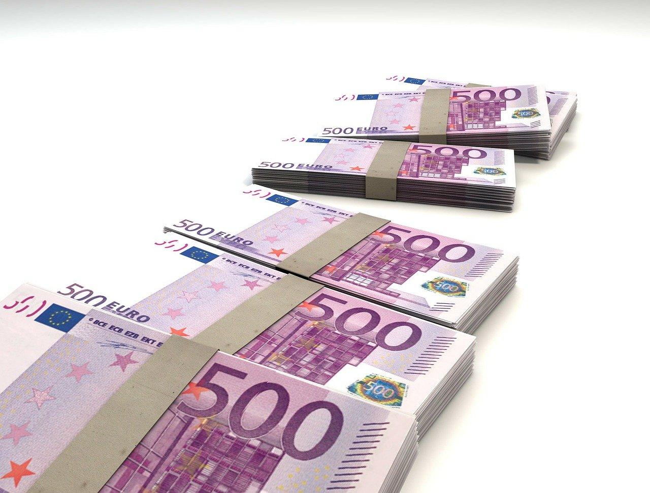 Bild von 500 Euro-Scheinen