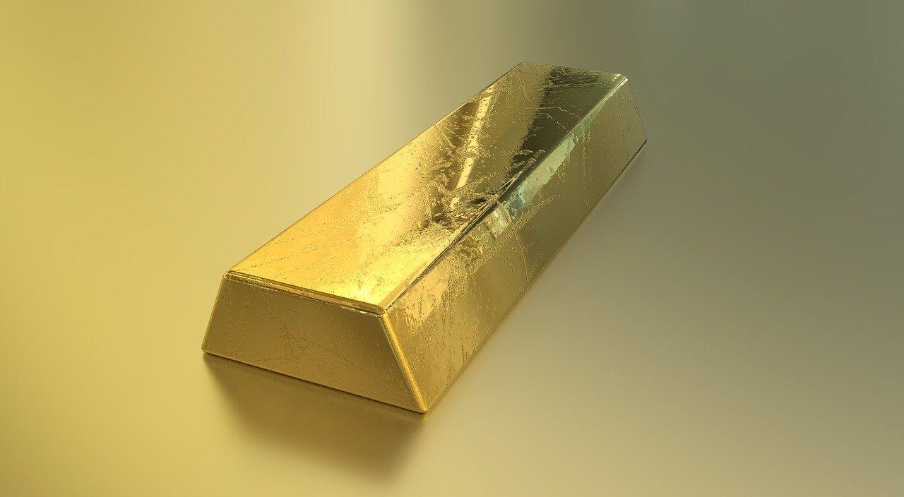 Ein Gold-Barren