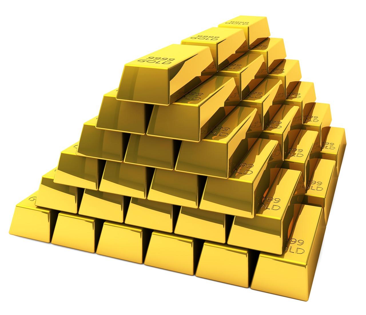 Beispielfoto für Goldbarren Stapel