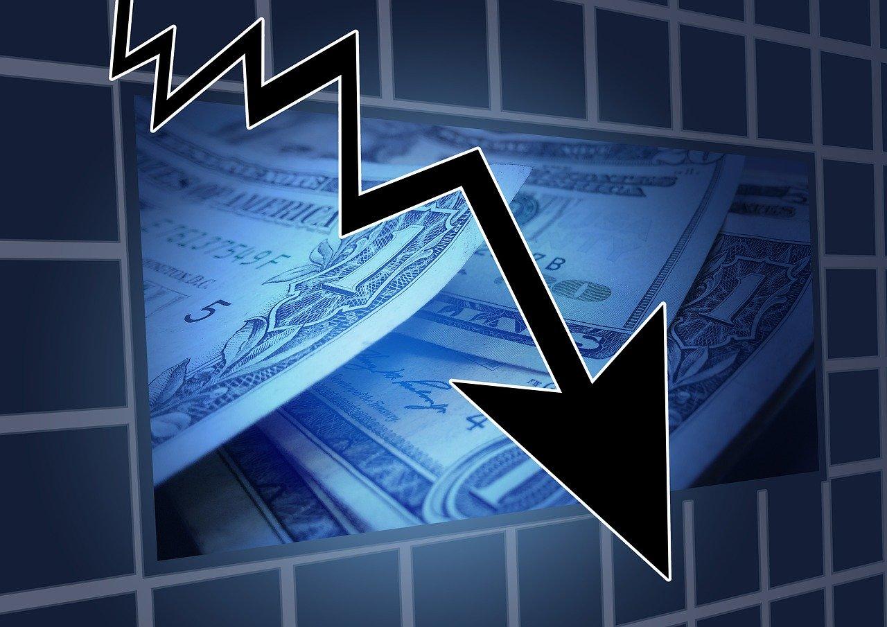Pfeil nach unten - die Tesla-Aktie stürzt richtig kräftig ab