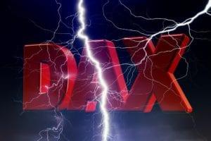 Der Dax erlebt derzeit ein Gewitter