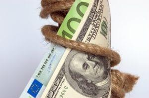 Der Euro mit eienr massiven Aufwärtsbewegung zum US-Dollar