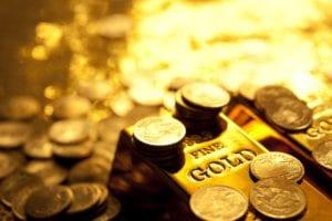 Der Goldpreis mit einer heftigen Rally