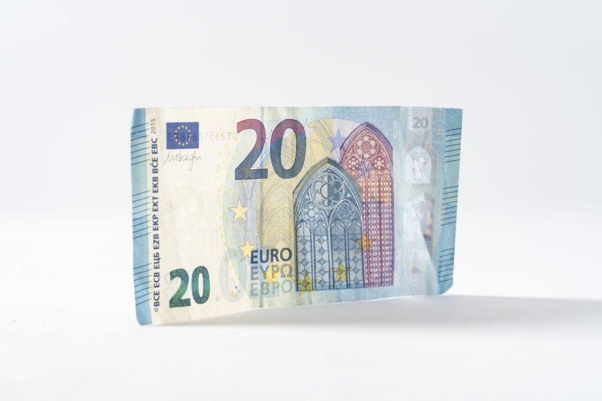 Ein 20 Euro Geldschein