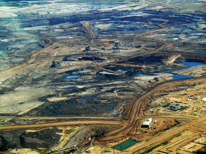 Dramatisch gefallener Ölpreis - Ölsandfelder in Kanada
