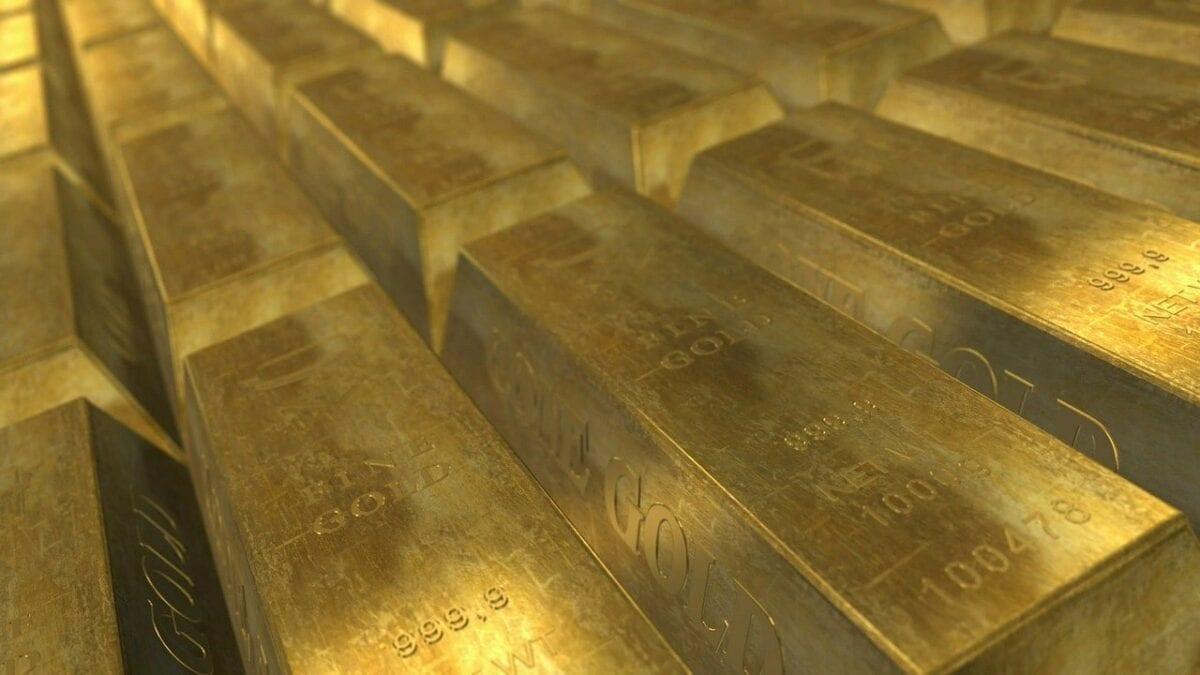 Zahlreiche Gold-Barren