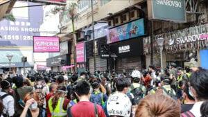 Bilder von der heutigen Demonstration in Hongkong