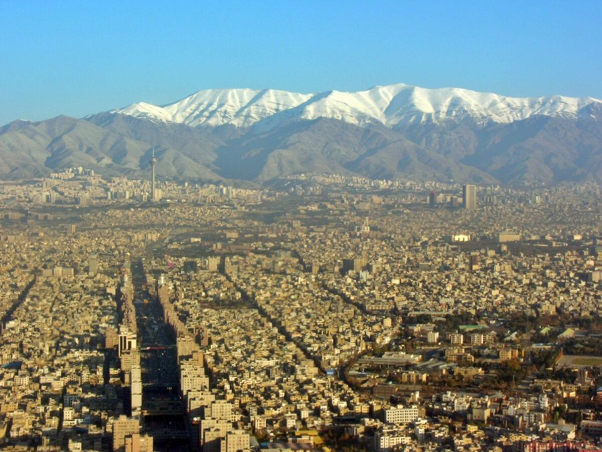 Blick auf Teheran, die Hauptstadt des Iran