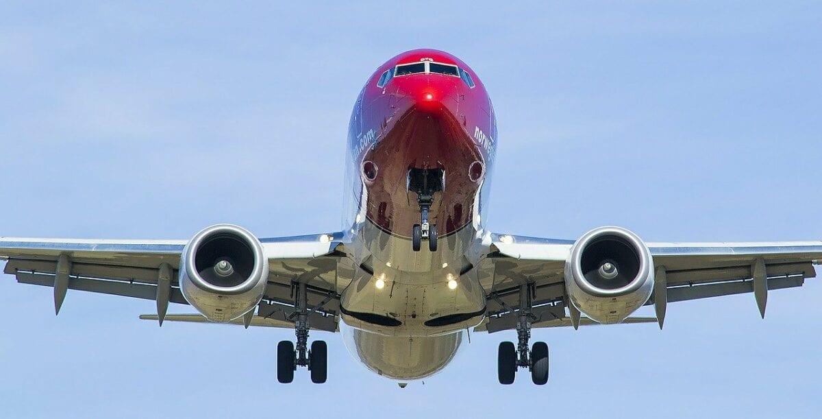 Ein Flugzeug der Norwegian