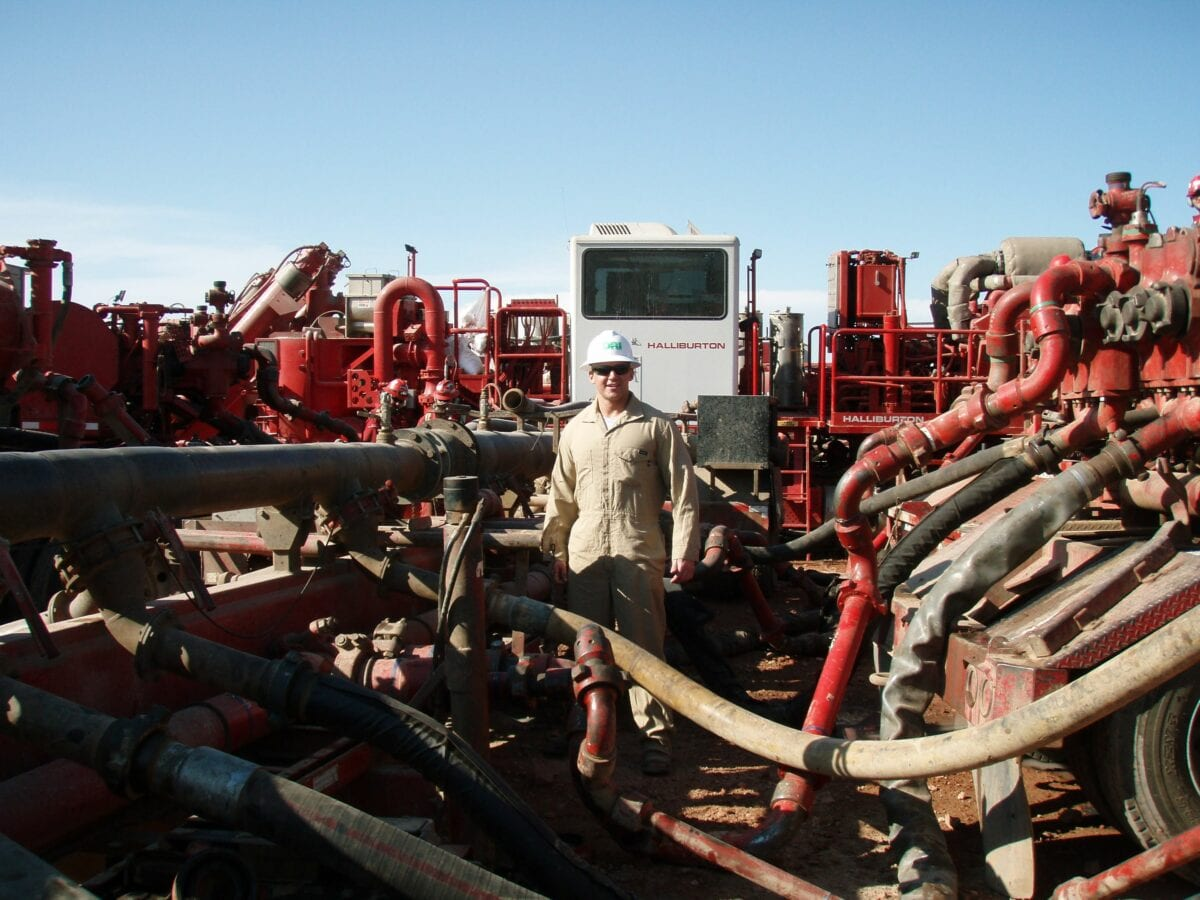 Fracking-Arbeiter in den USA