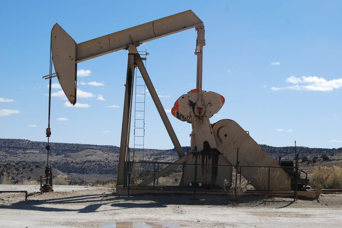 Eine Öl-Pumpe in den USA