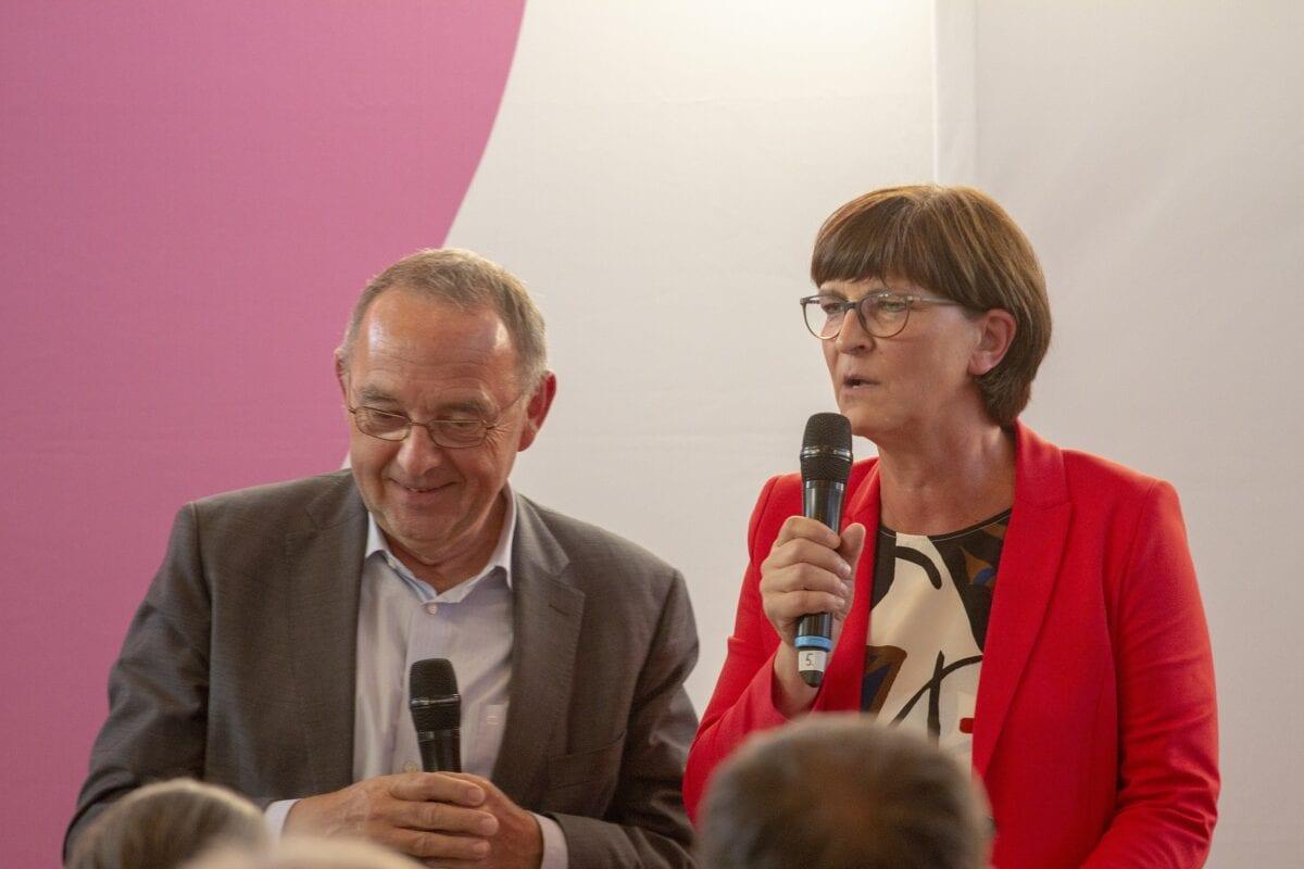 Die SPD Co-Vorsitzende Saskia Esken