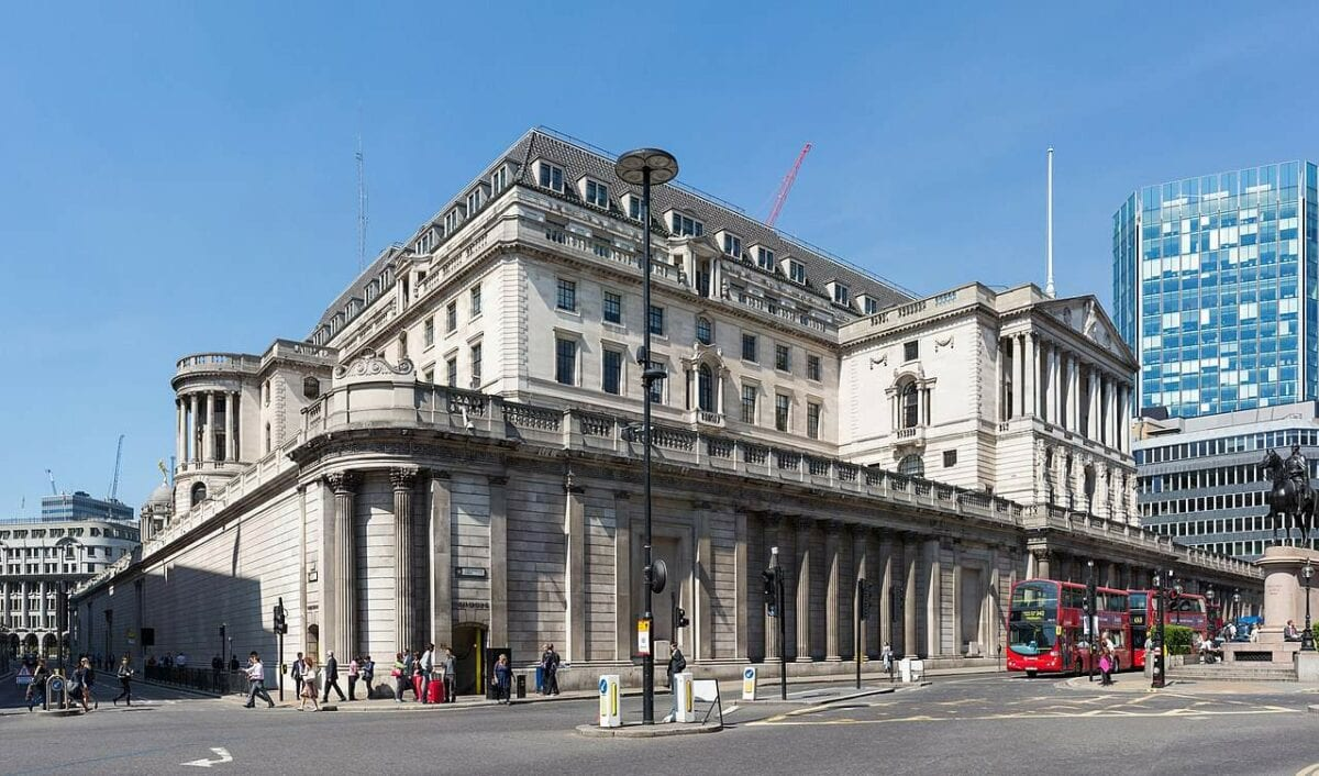 Die Bank of England Zentrale in London