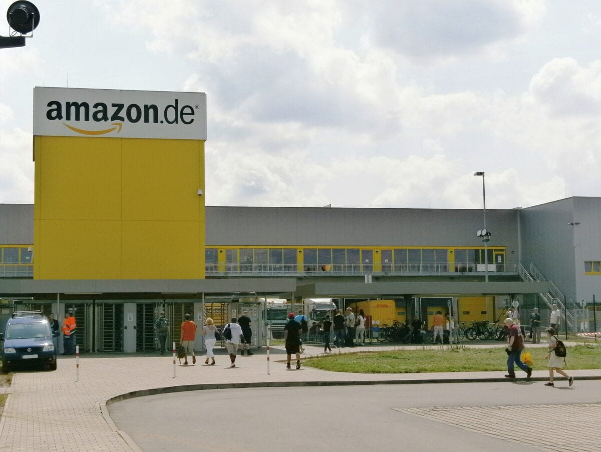 Amazon Warenzentrum Beispielfoto