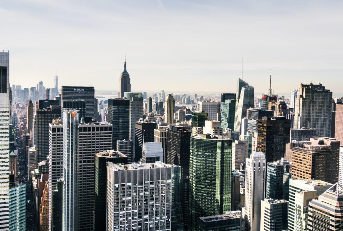 Skyline von New York - Sitz zahlreicher großer Banken in den USA