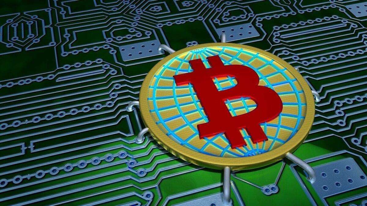 Symbolbild für den Bitcoin, der nur elektronisch existiert