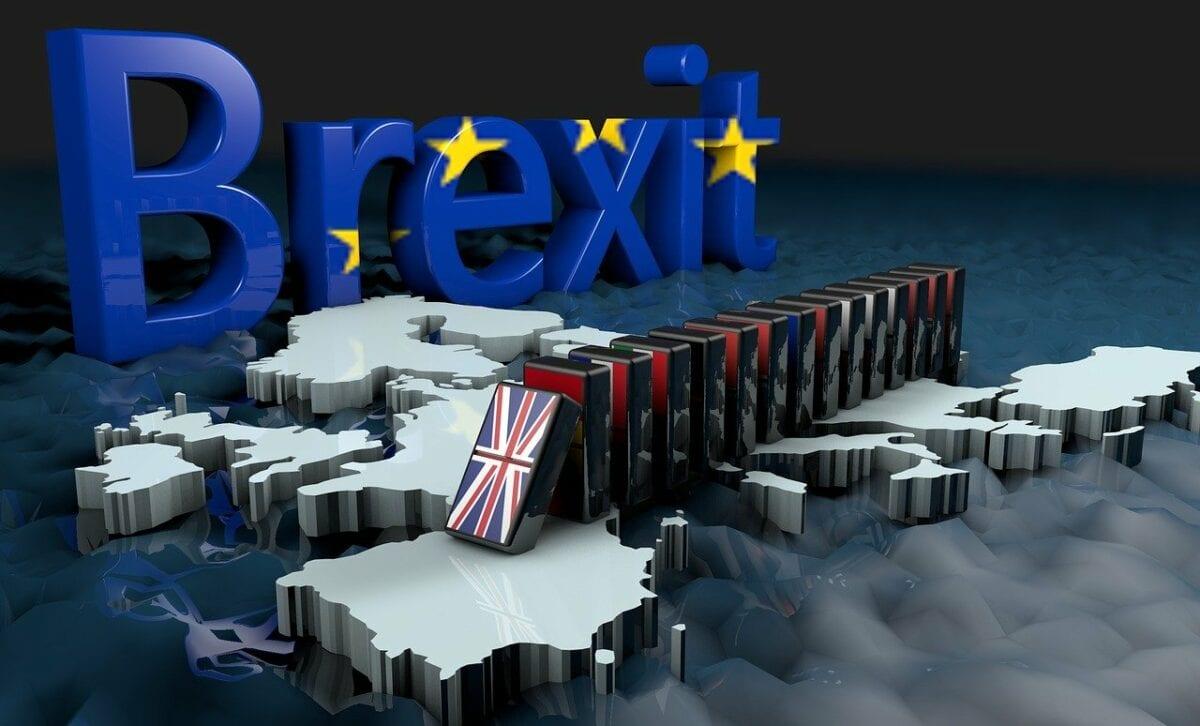 Grafik mit dem Brexit Schriftzug und Ländern Europas