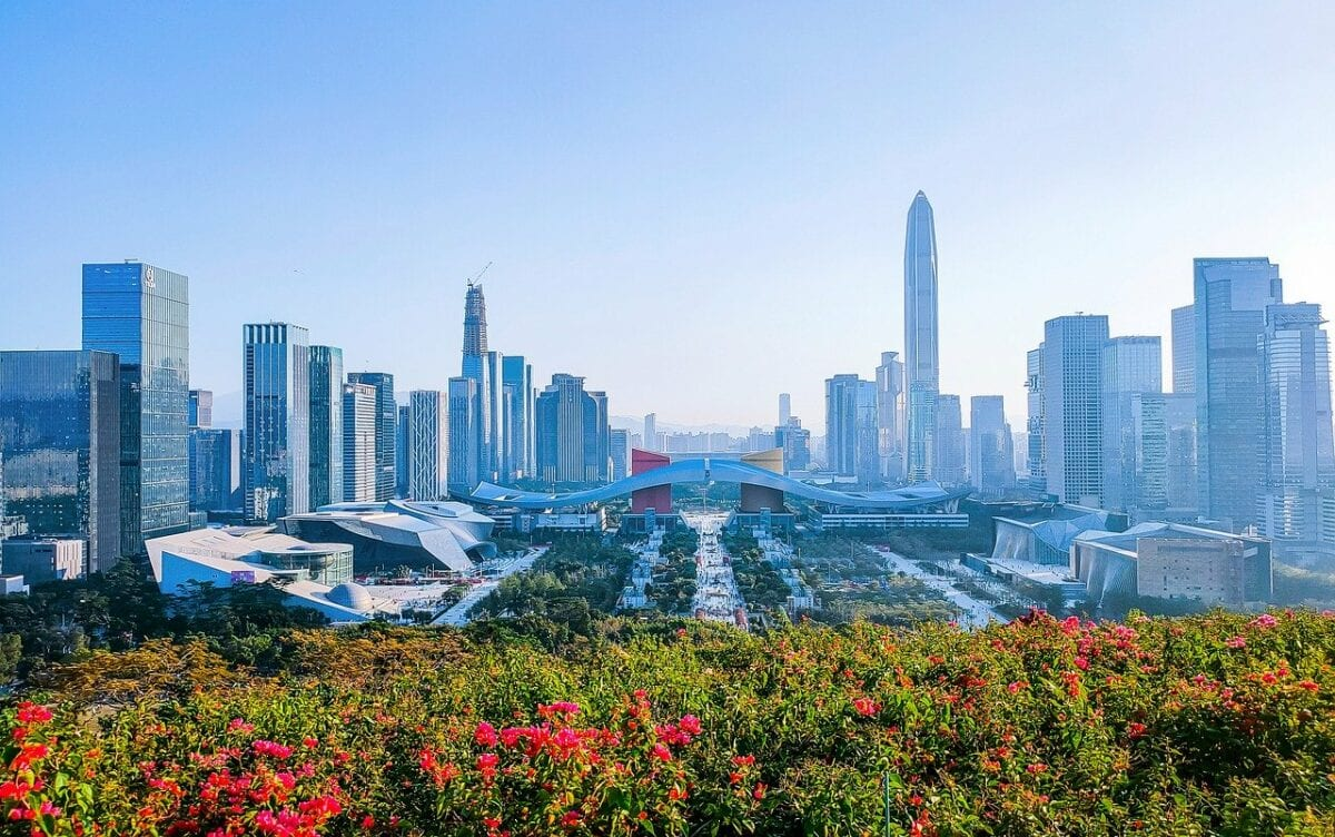Shenzhen ist eine der großen schnell wachsenden Metropolen in China