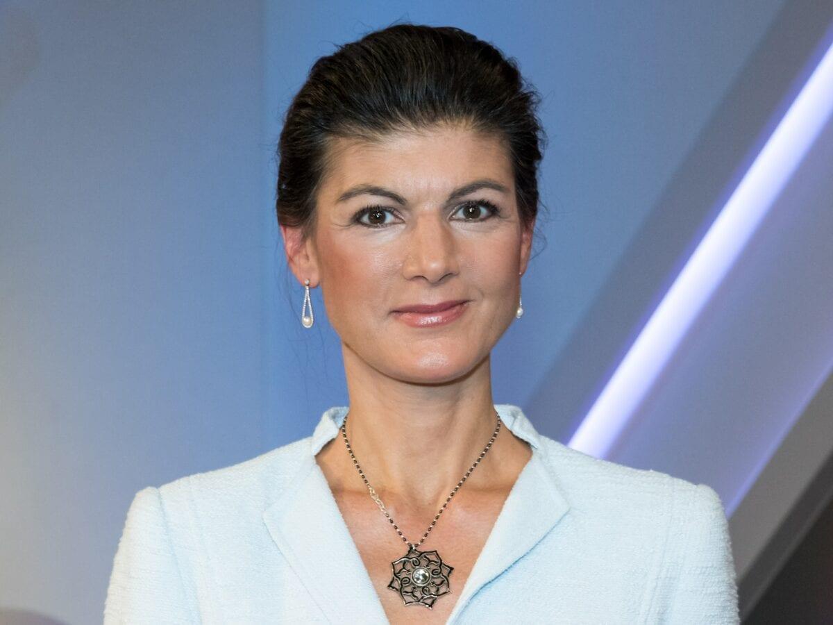 Sahra Wageknecht 2019 bei Sandra Maischberger