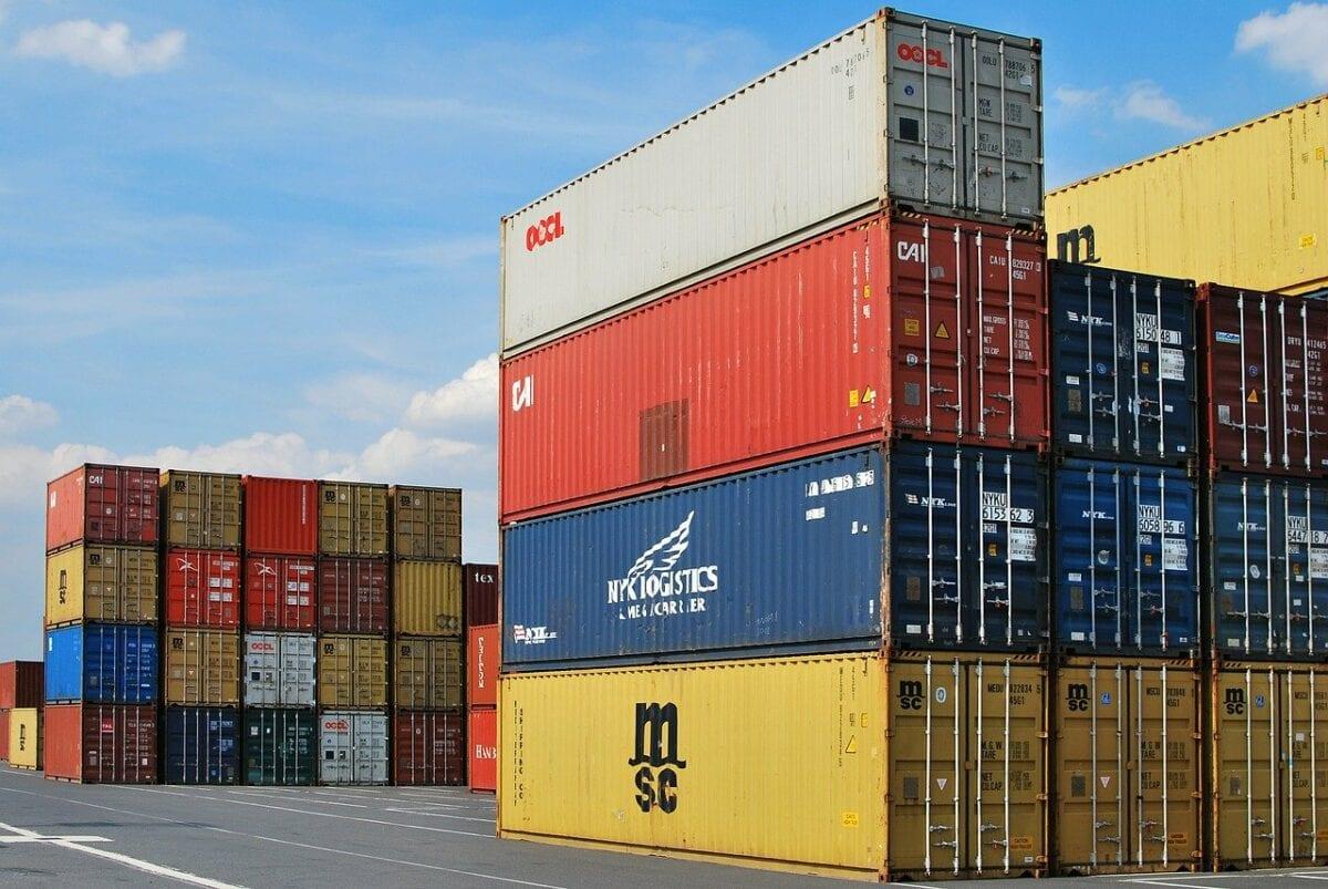 Waren-Importe laufen vor allem über Container