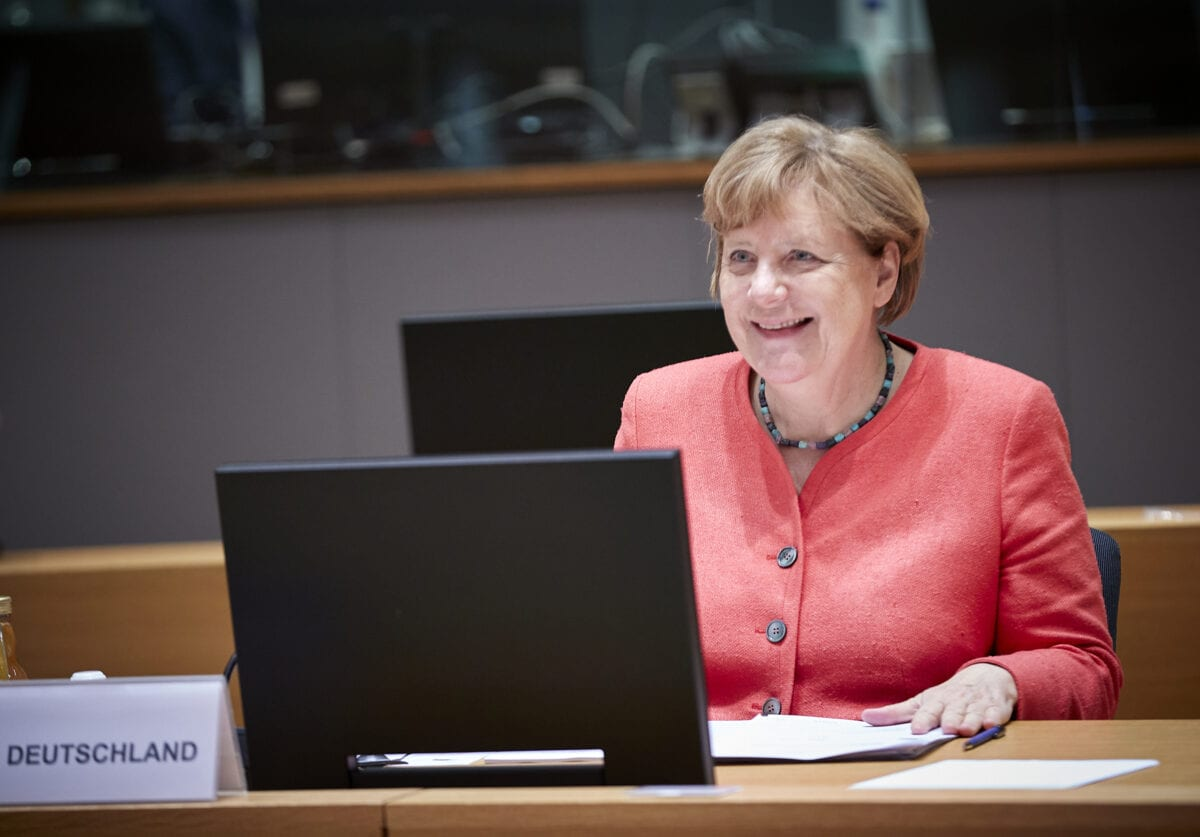 Angela Merkel bei den jüngsten EU-Verhandlungen in Brüssel