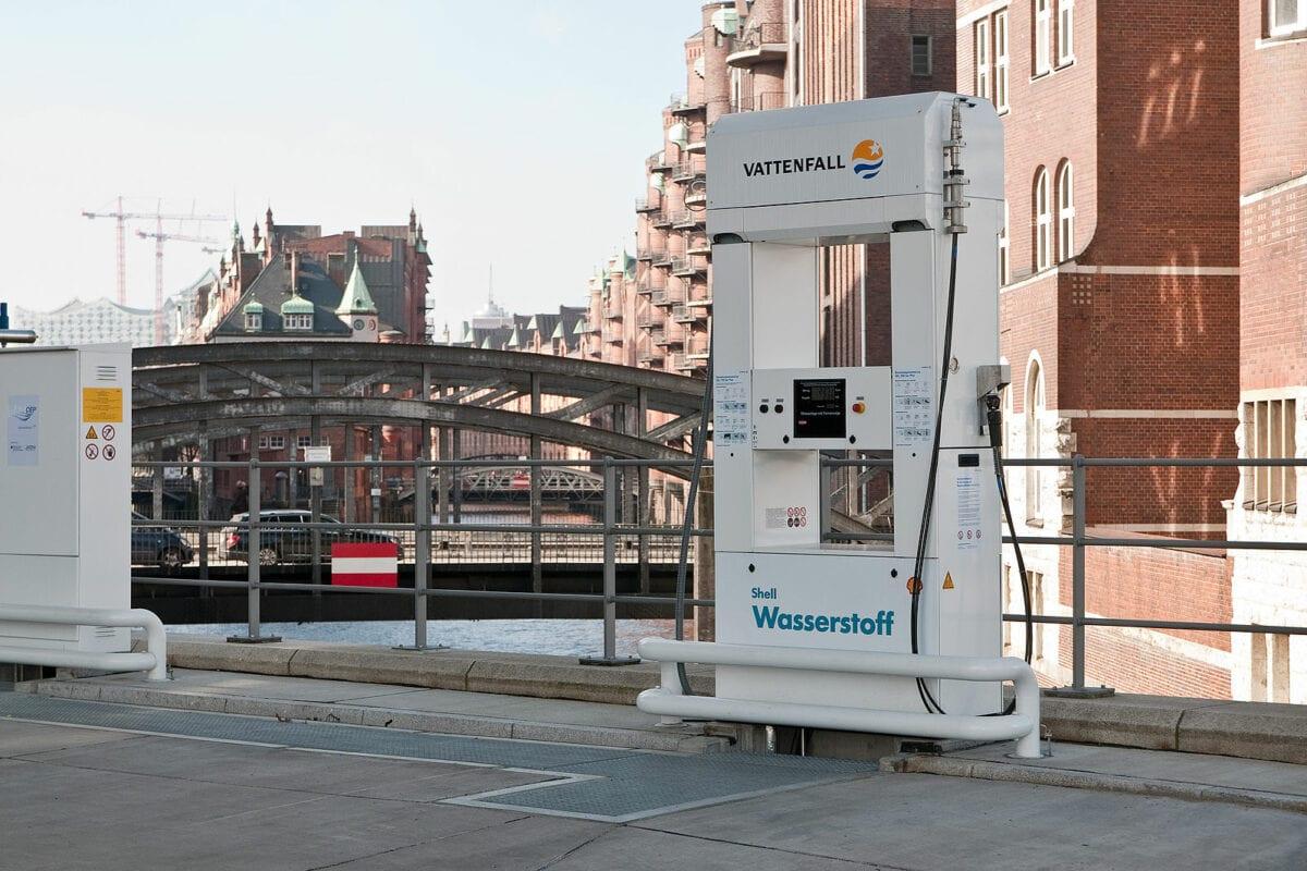 Wasserstoff-Tankstelle in Hamburg