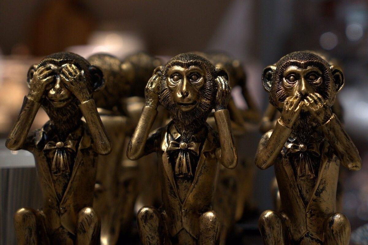 Die drei Affen der Ignoranz - perfektes Sinnbild für den Wirecard-Skandal