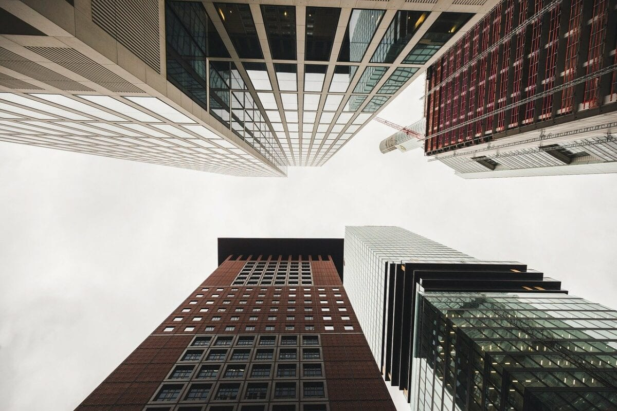 Hochhäuser von Banken in Frankfurt