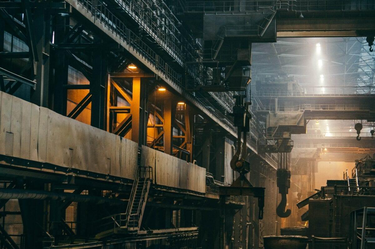 Stahlfertigung als Symbol für Industrieproduktion