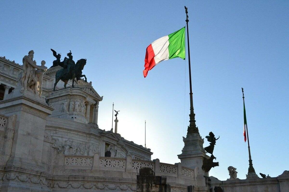 Italien-Flagge in Rom