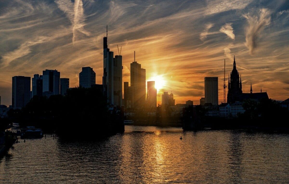 Türme von Banken in Frankfurt