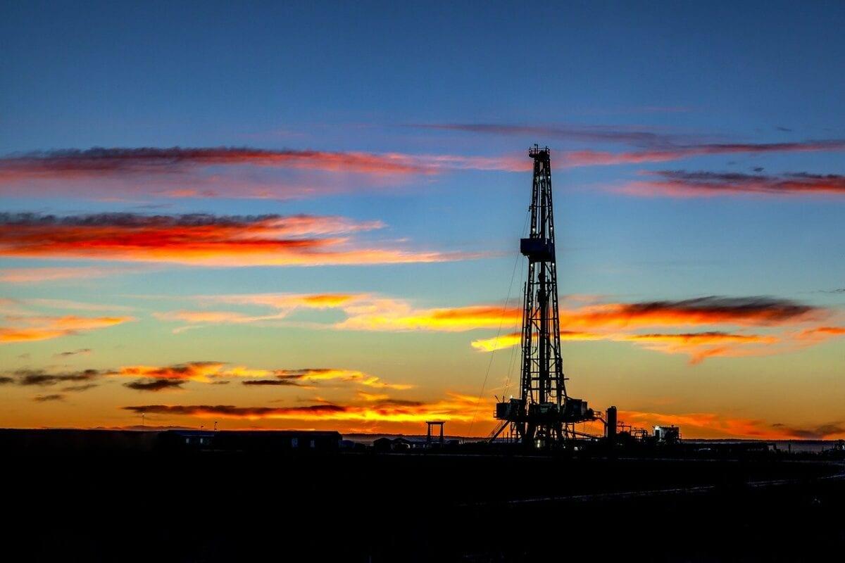 Ein Bohrturm für Öl