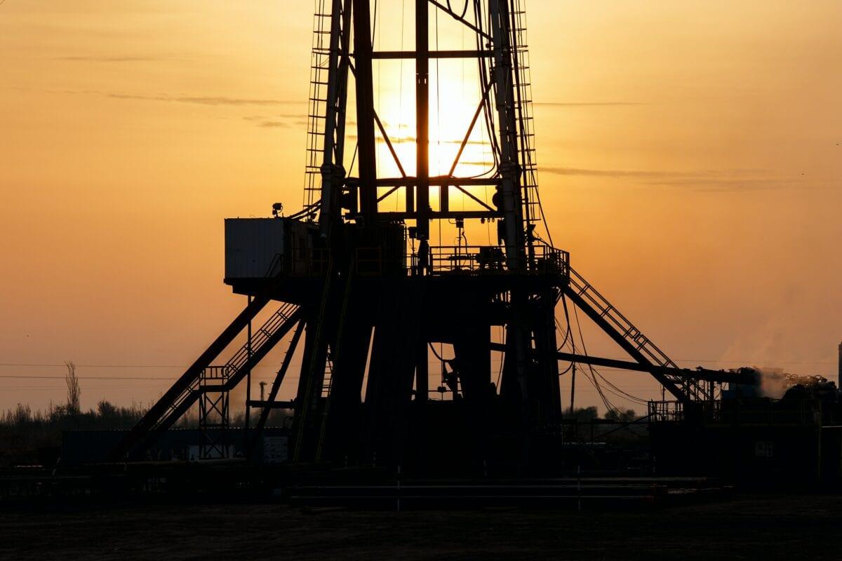 Öl-Bohrturm in den USA