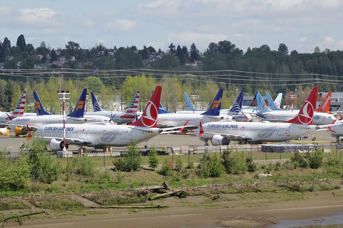 Halde von Boeing-Flugzeugen
