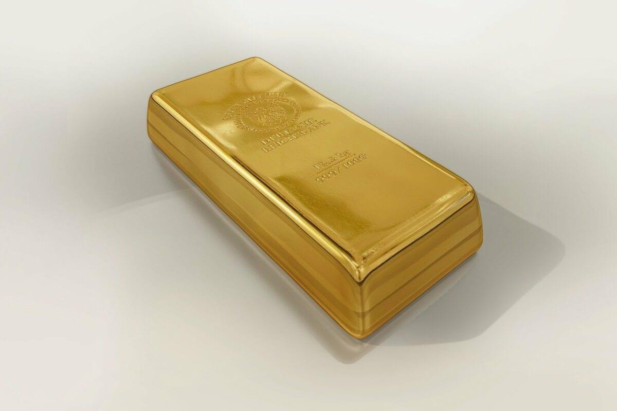 Ein Barren aus Gold