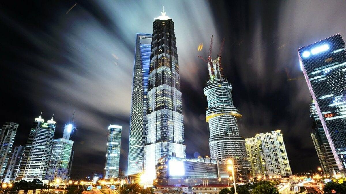 Die Kulisse von Shanghai als Vorzeigemetropole in China